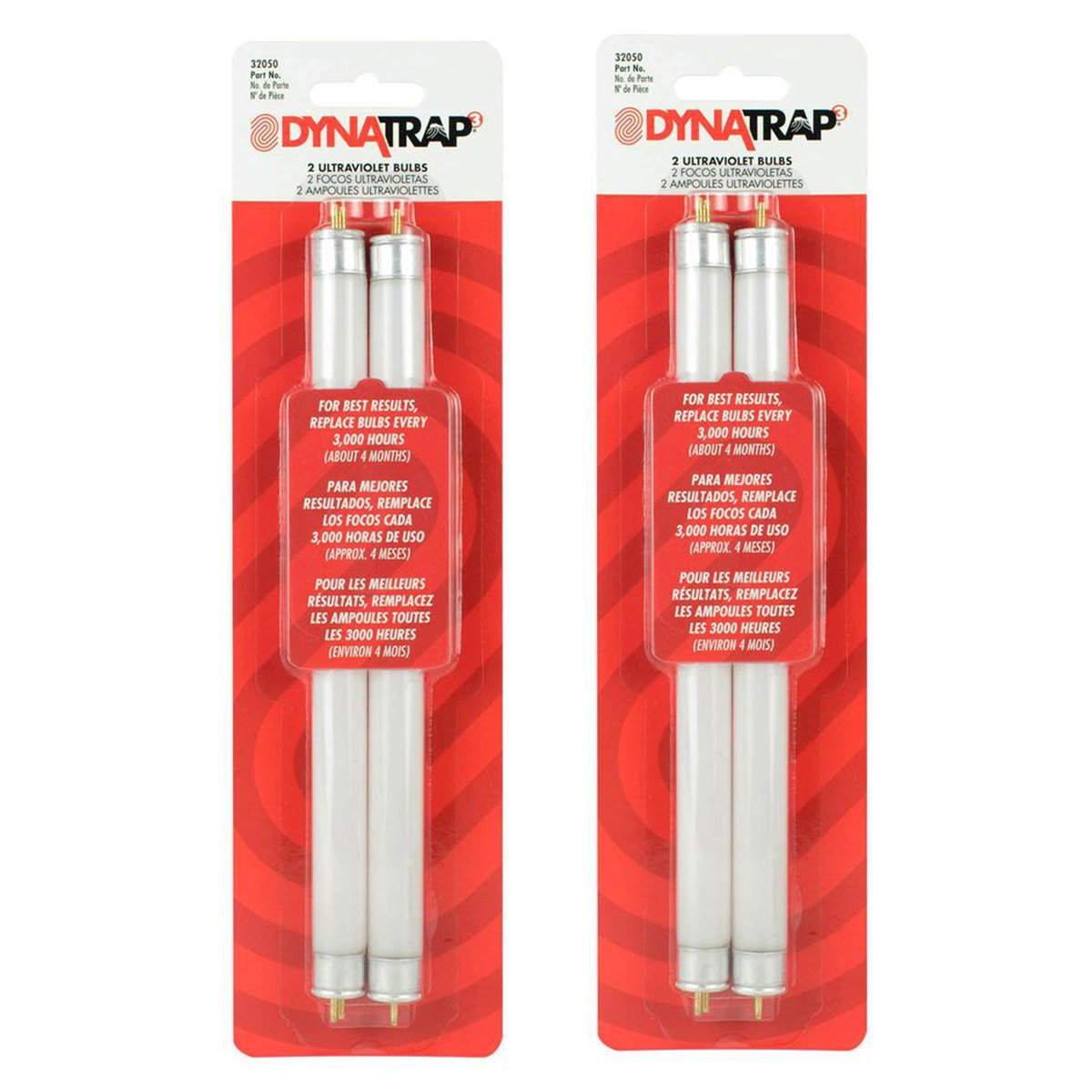 DynaTrap 32050 Replacement UV Light Bulbs for DT2000XL Insect Trap (Pack of 2, Total of 4 Bulbs)