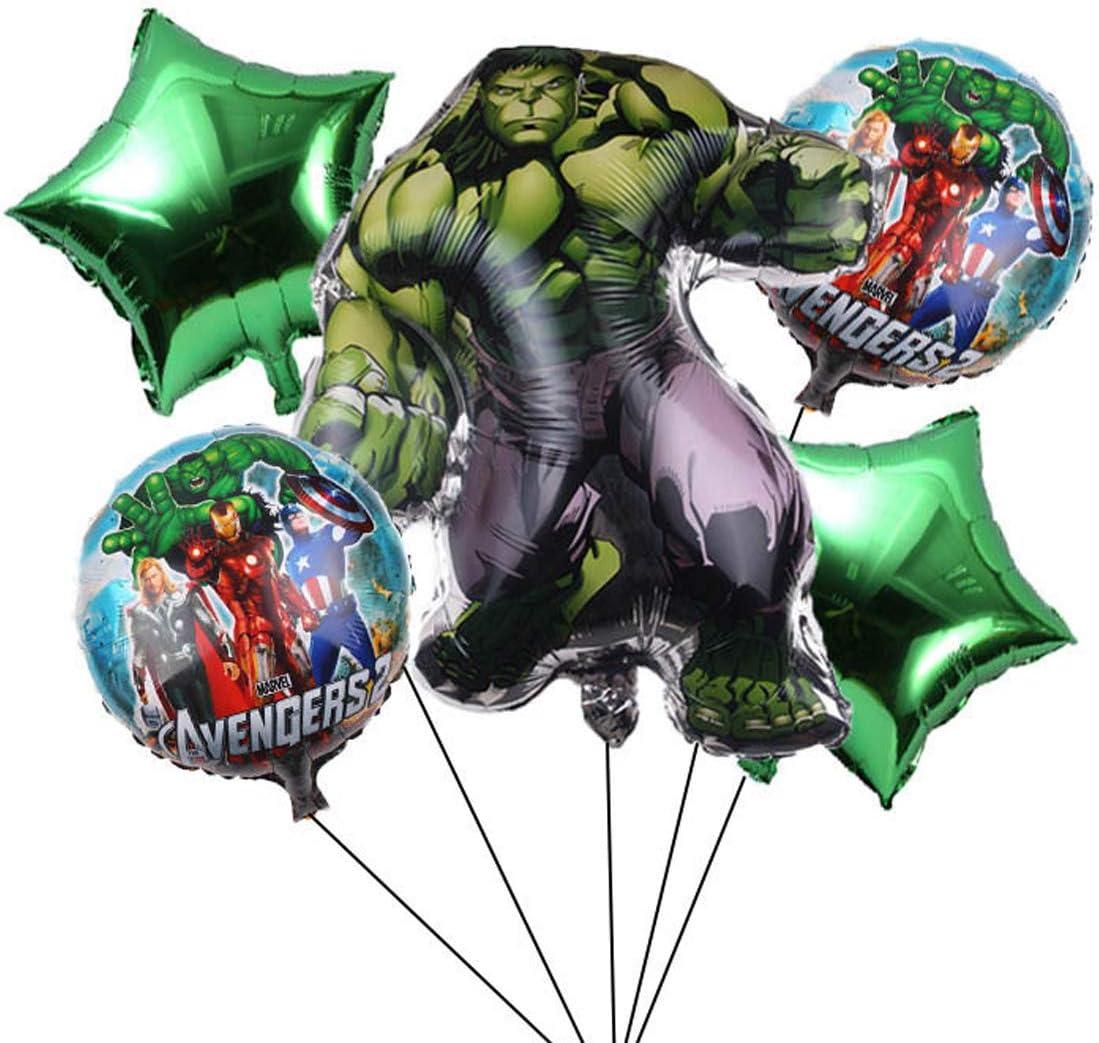 Pack 5 Globos Superhero Miotlsy-Decoraci/ón con tem/ática de Superhero para Favores Regalo Carnaval Boda Fiestas y cumplea/ños,Ideal para Decorar Tus Fiestas