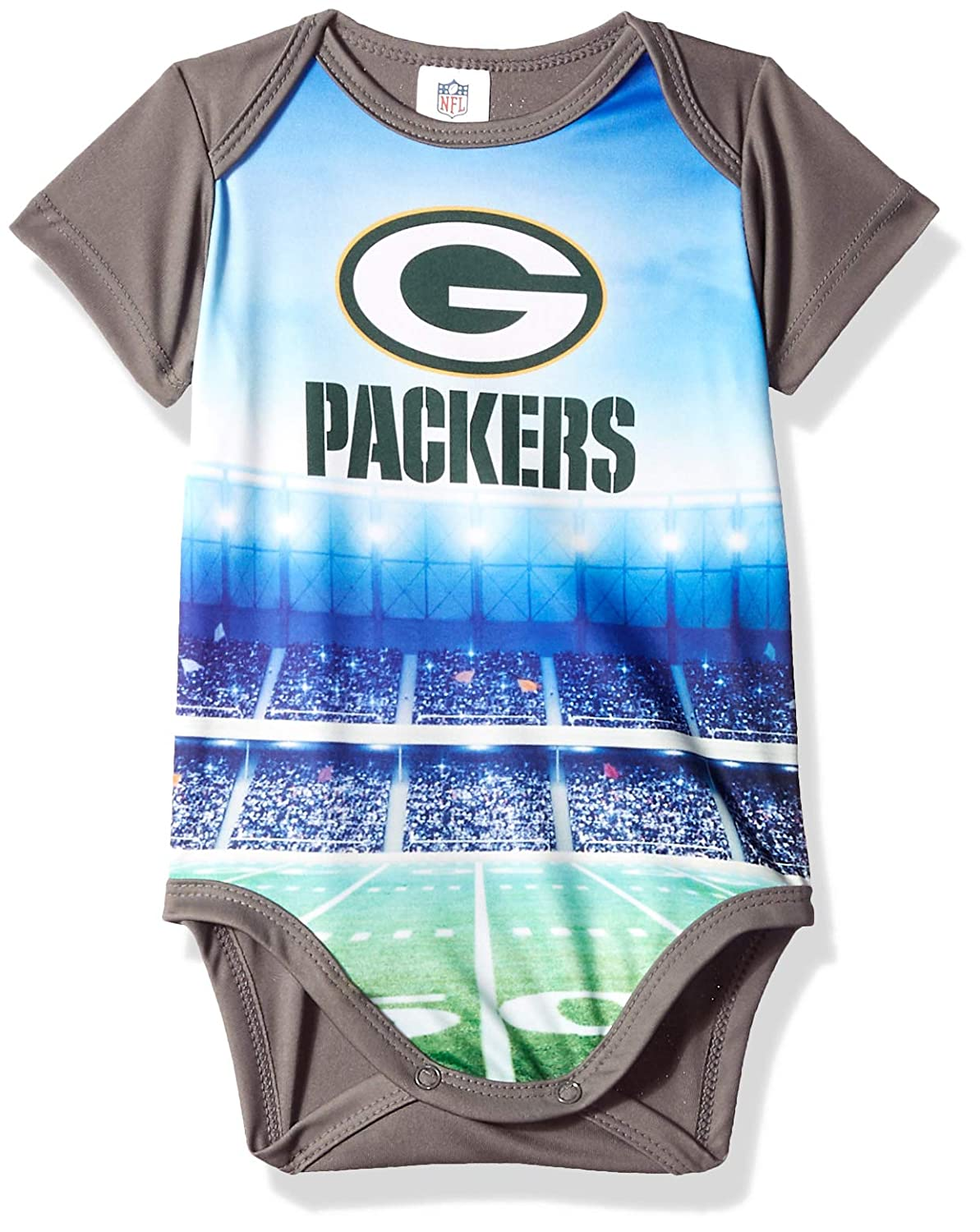 Green 6 Months NFL Green Bay Packers Unisex-Baby Short-Sleeve Bodysuit