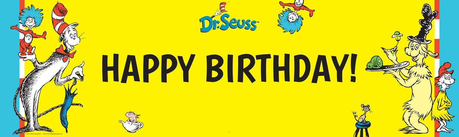Dr. Seuss Birthday Banner