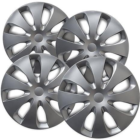 Tapacubos para Toyota (Pack de 4, fijación a presión de fundas para ruedas –