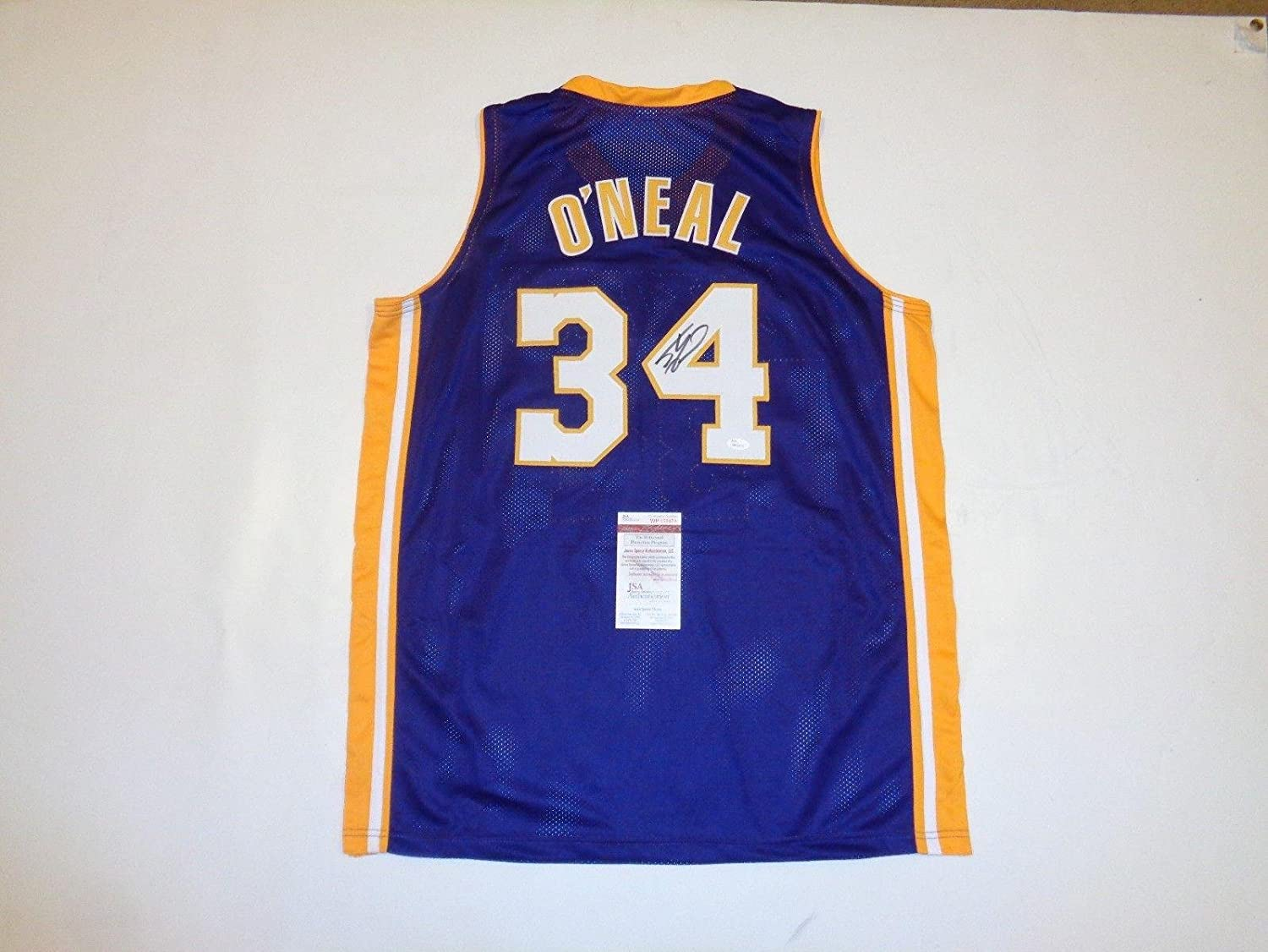 a8789c6e7 Amazon.com  SHAQUILLE O NEAL signed autographed Lakers purple Jersey  Witness - JSA Certified - Autographed NBA Jerseys  Sports Collectibles