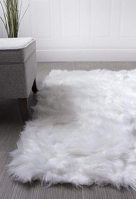Amazon Com Super Area Rugs Soft Faux Fur Sheepskin Flokati Shag