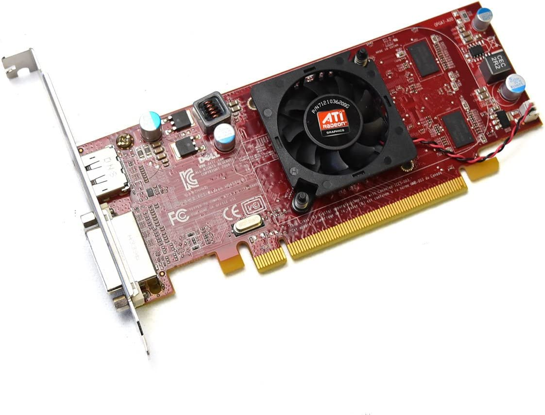 Aquamoon Trading New 3Y14F Genuine OEM Dell ATI Radeon HD4550 Full Height Desktop Tower PC Video Graphics Card Memory 512MB DDR3 DVI Display Port Resolution 2560 X 1600