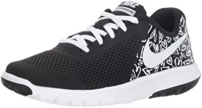 9c4adda378e1 New Nike Girl s Flex Experience 5 Print Athletic Shoe Black White 3.5