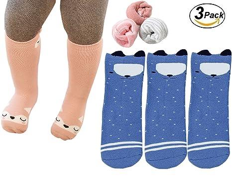 281c6d1b9 Baby Socks Toddler Girl Boys Knee High Socks Animal Thick and Warm Cotton  Socks 0-