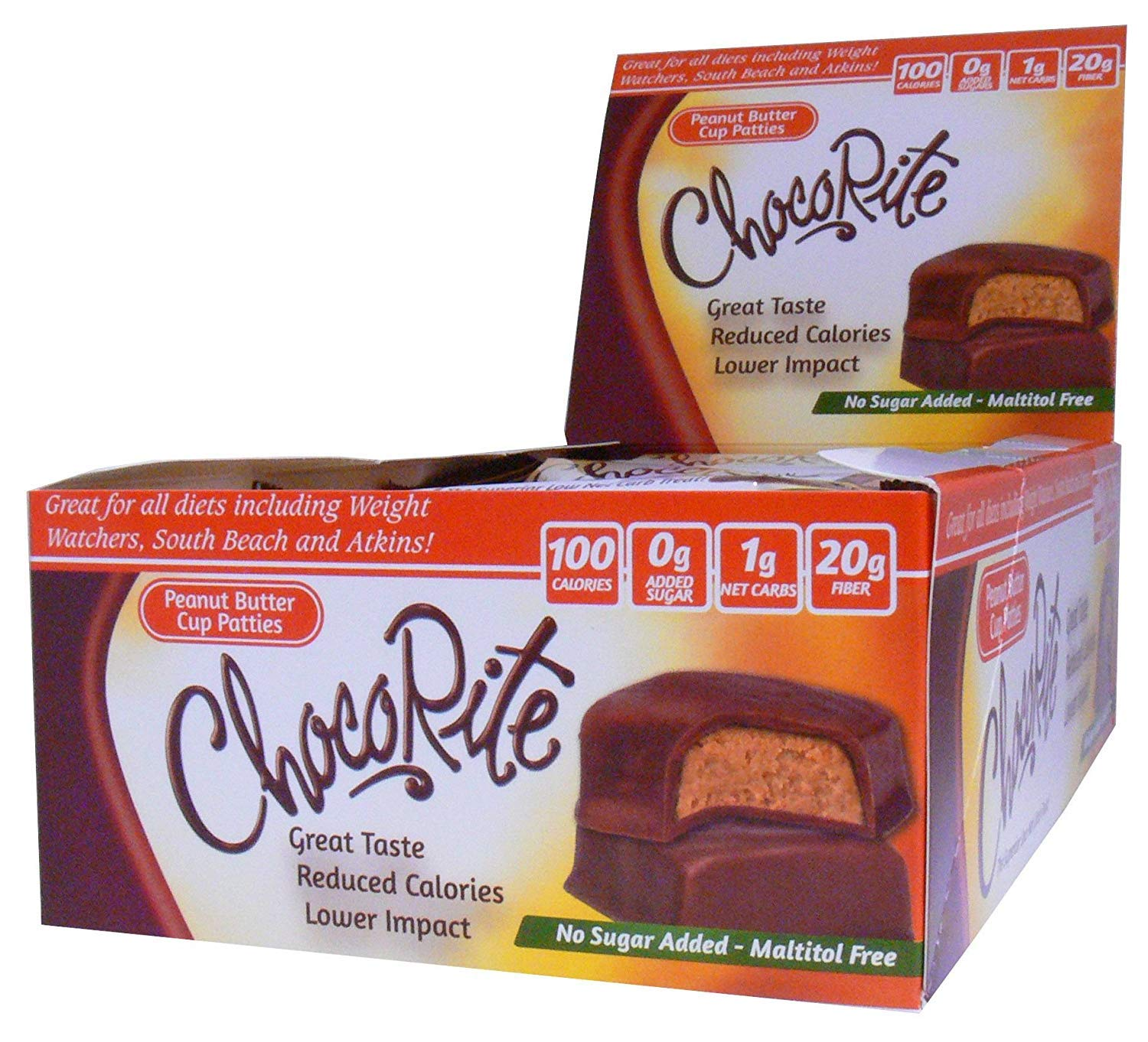 ChocoRite ChocoRite Peanut Butter Cup Patties, Peanut Butter Cup Patties, 18 Ounce , 16 count (4 Pack (16 Count)) by ChocoRite