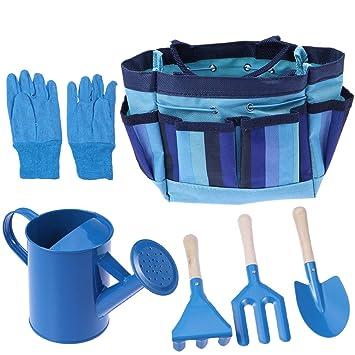 bestomz Jardin Kit d\'outils de jardin avec des gants et sac à outils ...