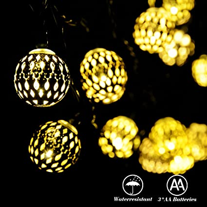Outdoor Battery Operated Lights With Timer Amazon recesky battery operated string lights with timer 40 recesky battery operated string lights with timer 40 led 225ft globe lantern decor lighting for workwithnaturefo