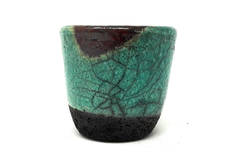 Taza de cerámica de rakú, hecha a mano, pieza única