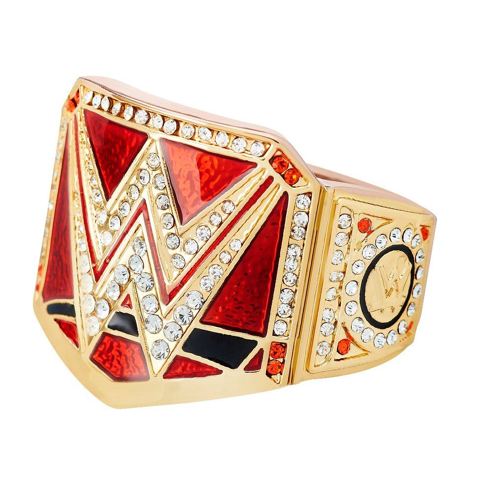 WWE Authentic Wear WWEユニバーサルChampionship指リングゴールド/レッド