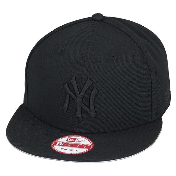 3e4d2693dfaae3 ... closeout new era 9fifty new york yankees baseball snapback hat cap all black  black mlb 32ecb