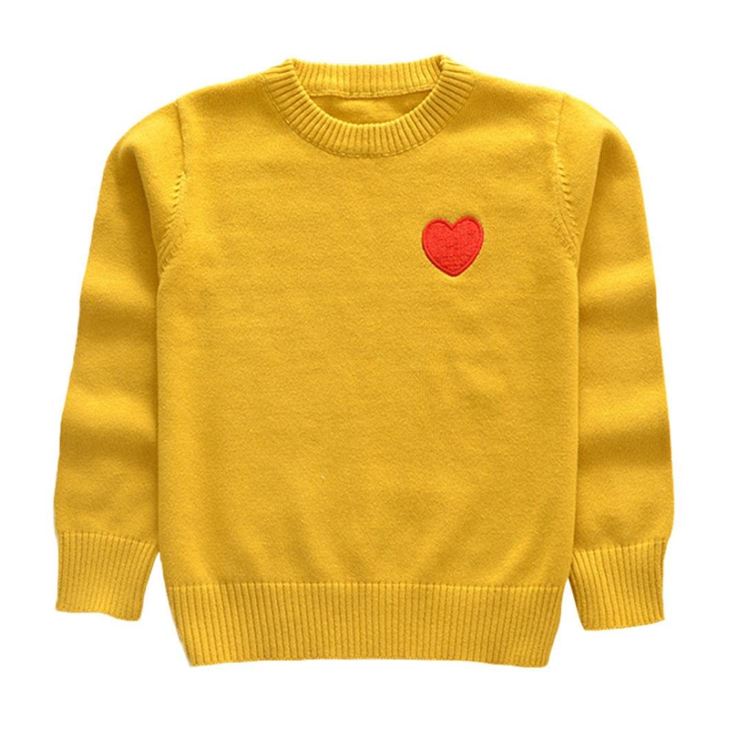 12M-5T Palarn Toddler Sweaters Unisex Baby Knitted Red Heart Print Sewing Tops