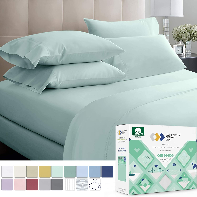 Hotel 600 Thread Count Cotton Sateen Sheet Set