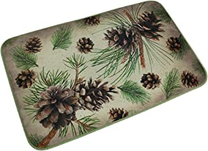 Microfiber Memory Foam Rustic Pine Cone Bath Mat 32 X 20 Inch