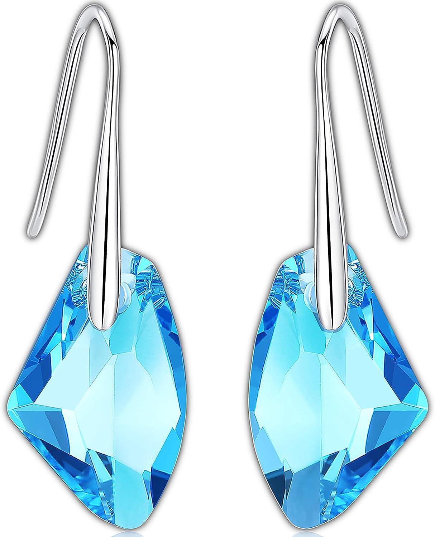 Pendientes Mujer Plata Swarovski - Pendientes de Gota - Aretes de Plata 925 Mujer con Cristal Swarovski de GoSparkling