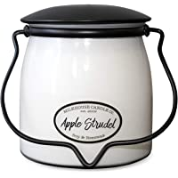 Milkhouse Candle Company, Creamery Scented Soy Candle: Butter Jar Candle, Apple Strudel, 16-Ounce