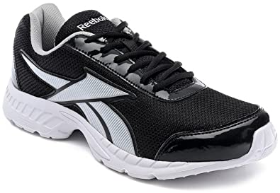 f8eb1f41cedeae Reebok Men s Tec Encyst LP Black and Medium Grey Mesh Running Shoes - 10 UK