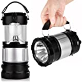 Solar Lantern, APPHOME Portable Outdoor LED Rechargeable Camping Lamp Light Handheld Flashlights Ultra Bright Collapsible LED Lantern - Camping gear for Hiking Fishing Emergencies Hurricane Outages