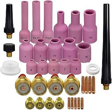 TIG Collet 13N21L 13N22L 13N23L 13N24L Kit Fit SR WP 9 20 25 torcia saldatura tig 4pezzi