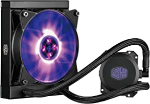 Cooler Master MasterLiquid ML240L RGB AIO CPU Liquid Cooler inch240mm Radiator, All-in-One, Dual Dissipation Pumpinch MLW-D24M-A20PC-R1 (Renewed)