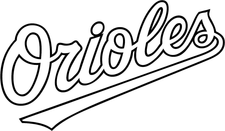 MLB Baseball Baltimore Orioles Decal Vinyl Truck Car Sticker