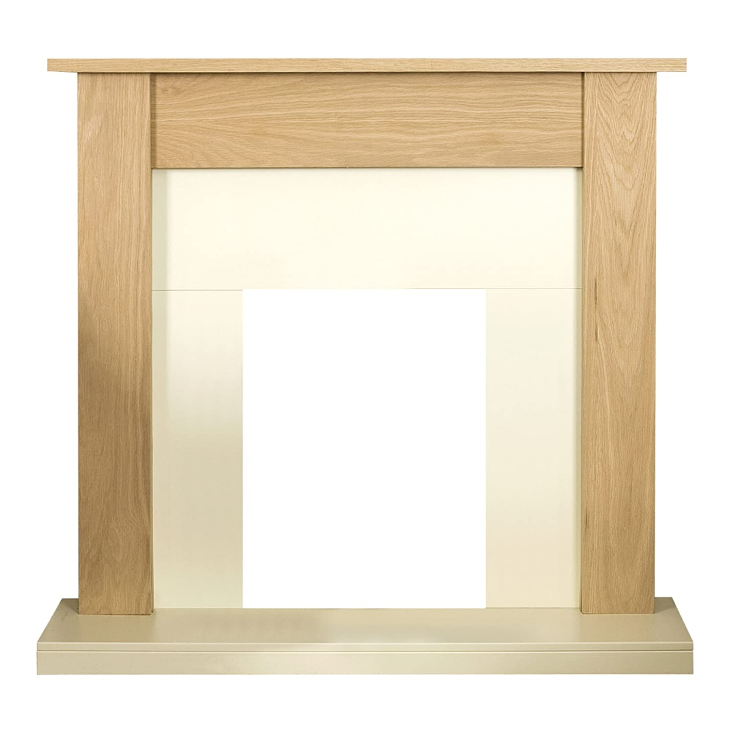 Adam Southwold Fireplace in Oak and Cream, 43 inch