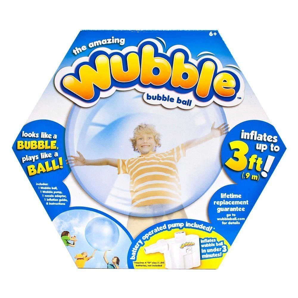 The Amazing WUBBLE Bubble Ball - Looks like a bubble, plays like a ball! Blue