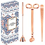 RONXS 3 in 1 Candle Accessory Set, Candle Wick Trimmer Candle Cutter, Candle Snuffer, Candle Wick Dipper with Gift Package fo