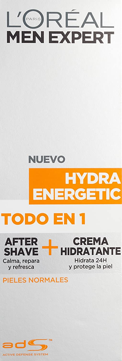 LOréal Paris Men Expert Hydra Energetic Todo en 1 After Shave + Crema Hidratante para Pieles Normales - 75 ml: Amazon.es: Amazon Pantry
