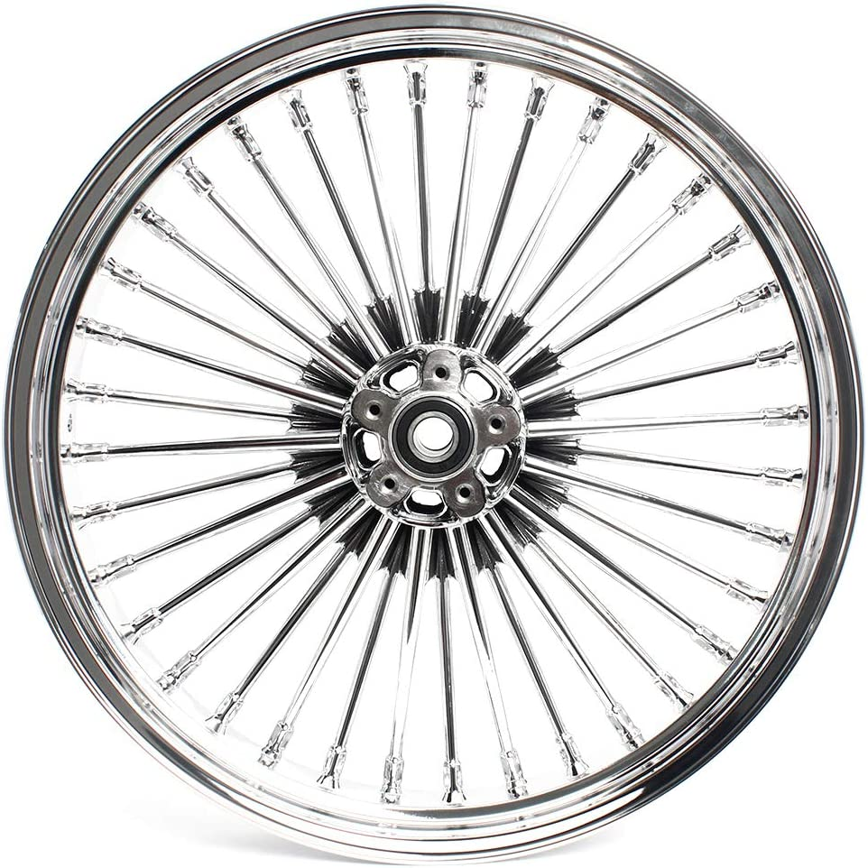 Ultra Classic Electra Glide Touring Baggers with 25mm Bearing DUAL DISCS 1984-2020 TARAZON Front 21x3.5 Fat King Spoke Wheel for Harley Electra Glide