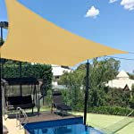 Artpuch 8'X10' Rectangle Sun Shade Sails Sand UV Block for Shelter
