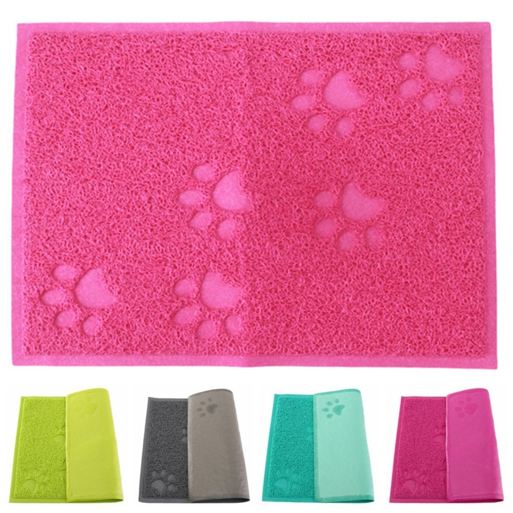 Yiitay Pet PVC Feeding Mat large for Dogs and Cats,Flexible and Easy to Clean Feeding Mat
