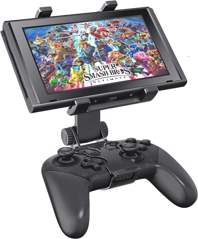 OIVO Soporte Mando para Nintendo Switch/Switch Lite, Ajustable Soporte de clip para Mando Pro Nintendo Switch