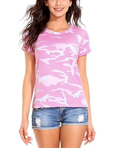 ISASSY -  T-shirt - Attillata  - Collo a U  - Maniche corte  - Donna