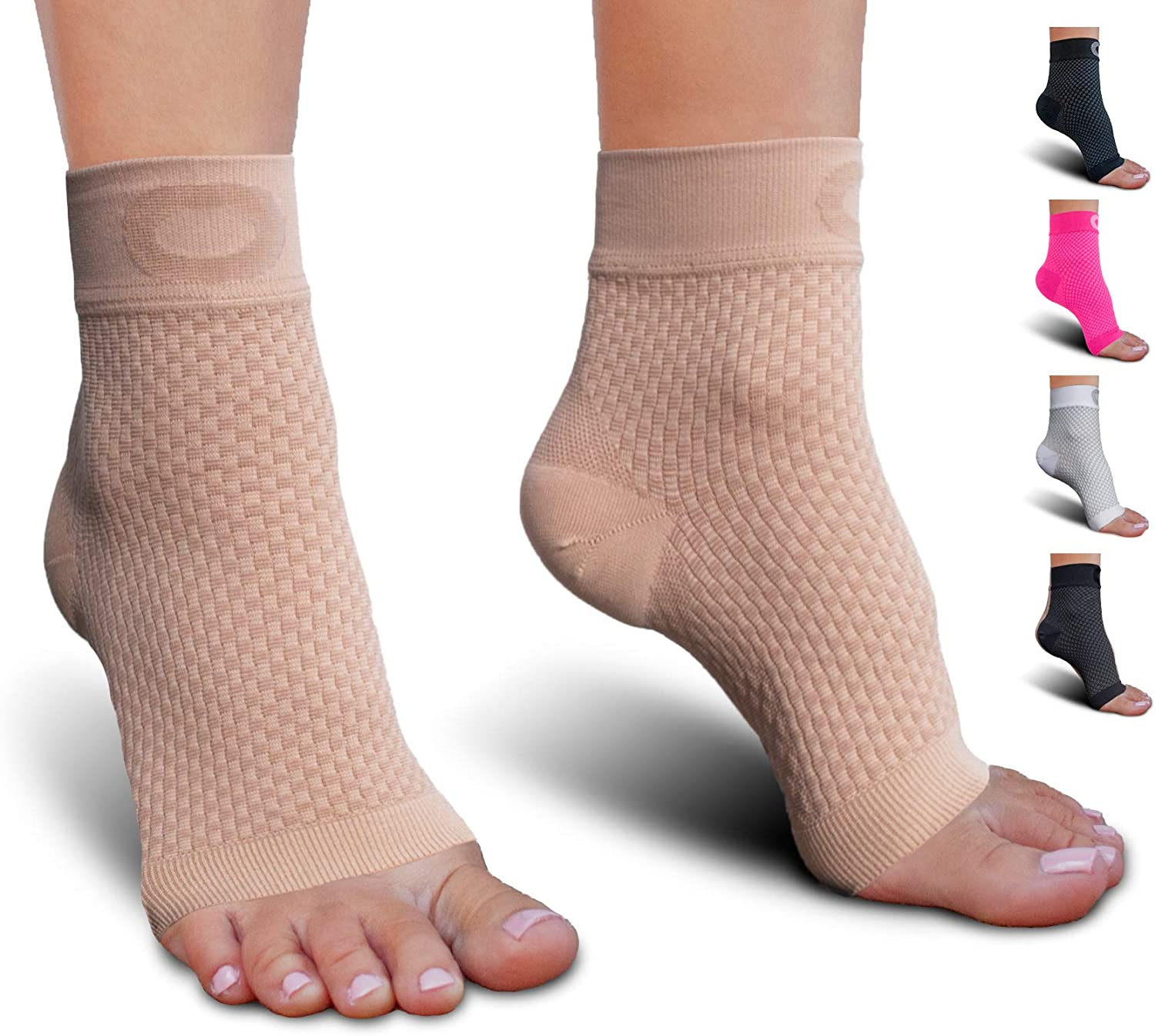 Plantar Fasciitis Socks with Arch Support for Men & Women - Best Ankle Compression Socks for Foot and Heel Pain Relief - Better Than Night Splint Brace, Orthotics, Inserts, Insoles: Sports & Outdoors