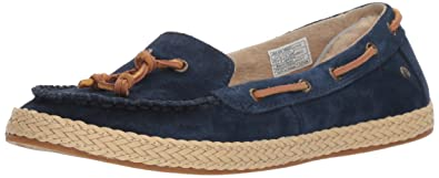 UGG Womens Channtal Loafer Flat, Navy, ...