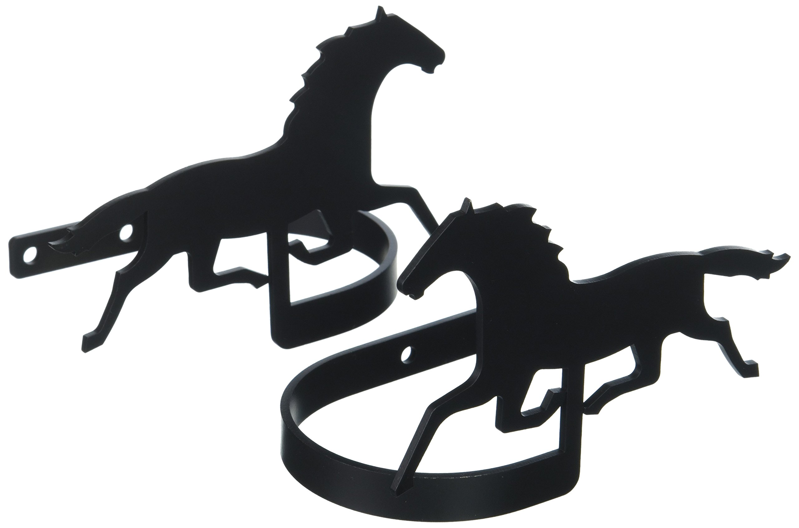 Village Wrought Iron 5 Inch Running Horse Curtain Tie Backs