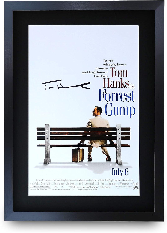 HWC Trading Forrest Gump A3 Incorniciato Firmato Regalo Visualizzazione delle Foto Print Immagine Autografo Stampato per Tom Hanks Gli Appassionati di Cinema