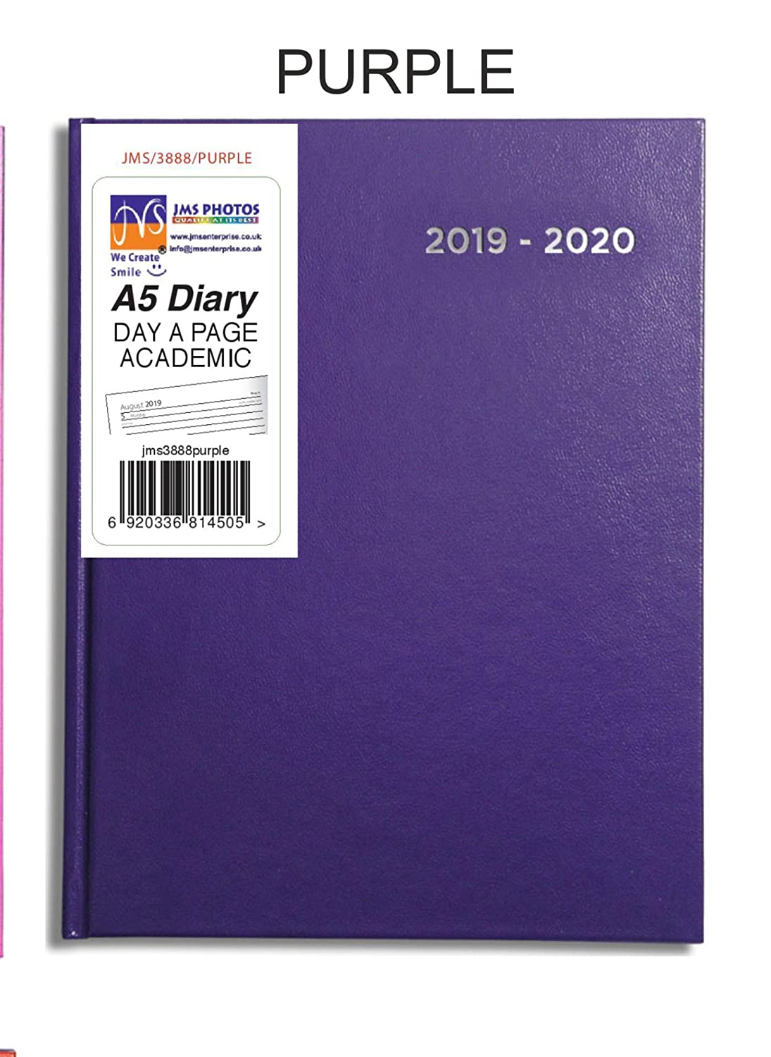 2019-2020 Blue Colour A5 Size Day A Page Mid Year Academic Hardback Diary