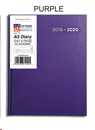 Purple JMS® 2019-2020 - Agenda escolar (tamaño A5, media ...