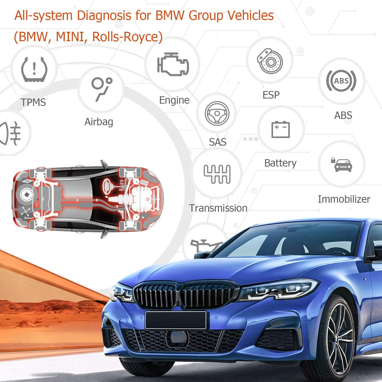 ANCEL BM700 All System OBD2 Diagnoseger/ät f/ür BMW Group Fahrzeug Diagnose CBS /Öl EPB SAS BMS EGS DPF Regeneration zur/ücksetzen