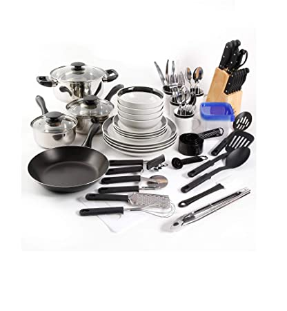 amazon com large kitchen combo set this 83 piece kitshen starter rh amazon com complete kitchen cabinet starter set