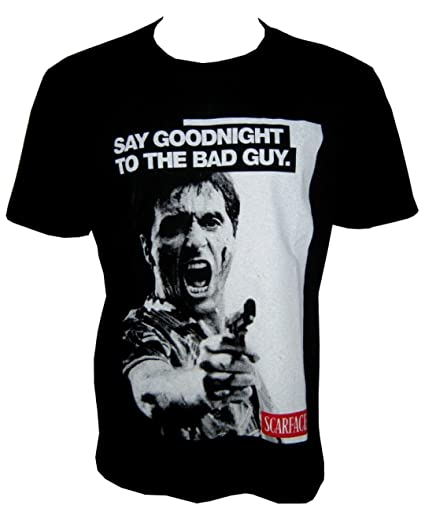 Scarface T Shirtsay Goodnight To The Bad Guy Al Pacino Brian De