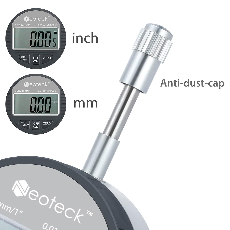 Neoteck DTL LED Microm/ètre num/érique 0.001mm//0.00005  Indicateur num/érique Precision Gauge 0-25.4mm//1  comparateur /électronique//indicateur de sonde num/érique