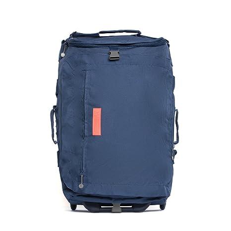 ECO Maleta Plegable con ruedas convertible a mochila hecha de material reciclado RPET (Azul Oscuro