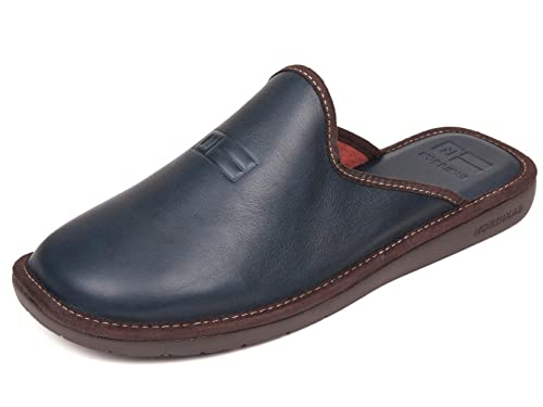 precio favorable descuento más bajo calidad superior Nordikas Navy Blue Leather Slippers