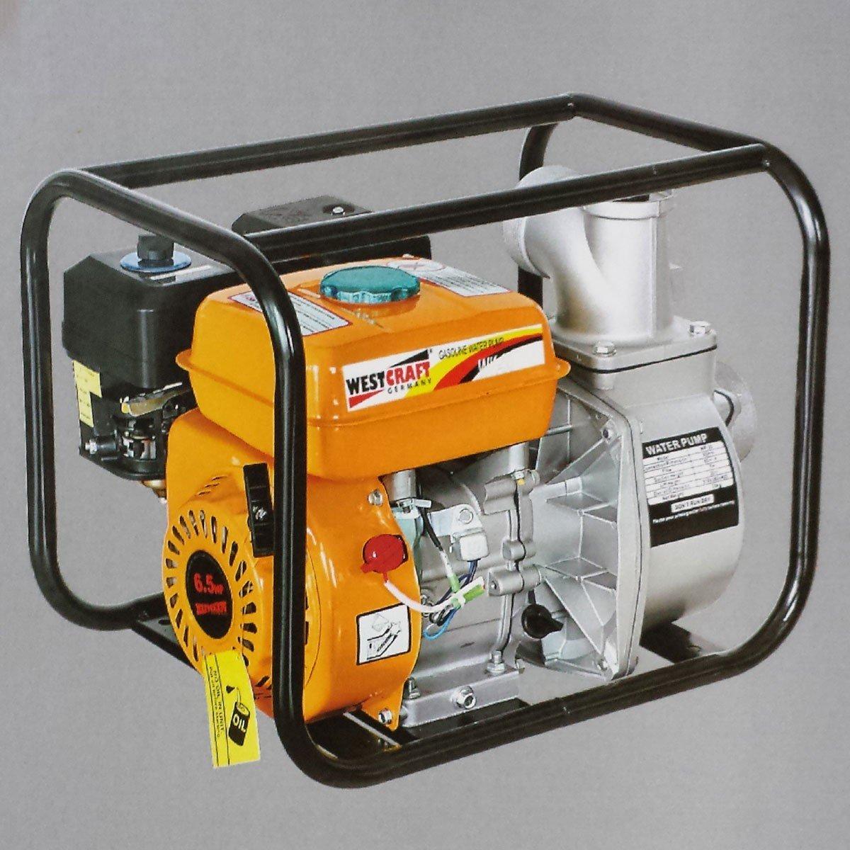 60.000 l/h Wasserpumpe 3 Zoll Benzin Motor 6,5 PS Pumpe Motorpumpe Teichpumpe