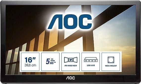 Aoc I1659fwux 39 6 Cm 15 6 Inch Portable Usb Monitor Computers Accessories