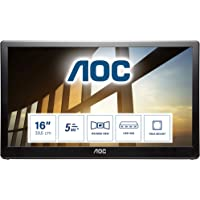 AOC I1659FWUX 15.6 Inch Portable Monitor, IPS LED, Smart Cover/Stand, USB 3.0 (1920 x 1080 FHD /5 ms/USB 3.0…